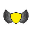 shield and wings logo heraldic emblem antique