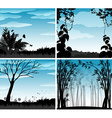 Silhouette scene of nature vector image vector image