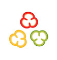 slices bell peppers collection vector image vector image