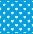 smiling apple pattern seamless blue vector image vector image