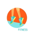 Sports and healthy lifestyle concept Image can be vector image vector image