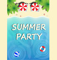 summer party template with paradise beach top vector image vector image