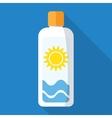 sun cream vector image vector image