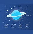 the uranus infographic in universe concept vector image vector image