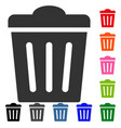 trash can framed icon vector image vector image