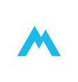 triangle geometric letter m or aa mountain