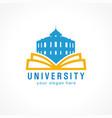 university open book vector image vector image