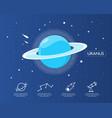uranus infographic in universe concept vector image