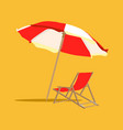 vacation and travel concept beach umbrella beach vector image vector image