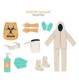 variety protective equipment elements vector image vector image