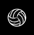 white grunge dotted volleyball vector image vector image