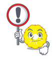 with sign pineapple slice character cartoon vector image vector image