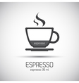 Cup of espresso simple icons vector image