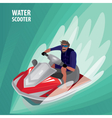 Man on a water scooter vector image