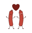 sausage food icon vector image