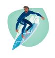 Man on a surfboard vector image