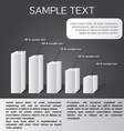 black-white infographics in eps 5 sections vector image