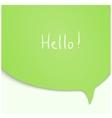 Speech Bubble in green color vector image