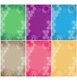 technology background color set vector image
