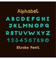 Alphabet English Sloppy Fat Stroke Font Letters