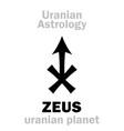 astrology zeus uranian planet vector image vector image