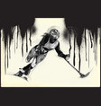 athletes with physical disabilities - alpine vector image vector image
