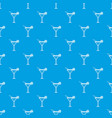 beach cocktail pattern seamless blue vector image vector image