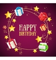 Birthday Gift Box Garland Background vector image vector image