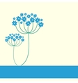 Blue flowers frame vector image vector image
