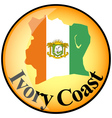 button Ivory Coast vector image