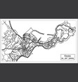 ceuta spain city map iin black and white color vector image