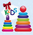 childrens games on logic and construction shop of vector image vector image