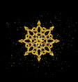 christmas greeting card with gold snowflake vector image