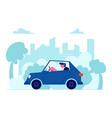 city transportation traffic route man dweller vector image