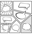 collection comic style speech bubbles vector image vector image