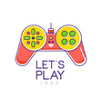 colorful joystick logo gamepad creative vector image vector image
