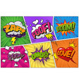 comic bright template vector image vector image