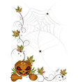 Corner of pumpkins and leaves vector image vector image
