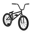 cyclingextreme sport single icon in black style vector image vector image