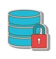 database hard disk database host system vector image