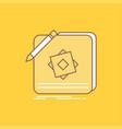design app logo application design flat line vector image vector image
