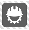 Development Hardhat Rounded Square Button vector image vector image