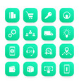 e-commerce business and online shopping icons set vector image
