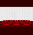 empty movie theater auditorium with red seats vector image vector image