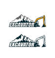 excavator logo template vector image vector image