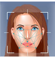 facial recognition system concept face vector image