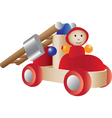 Firetruck toy vector image vector image