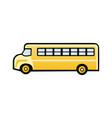 flat icon yellow school bus vector image