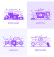 flat line purple designed concepts 18 vector image