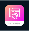 folder setting gear computing mobile app button vector image